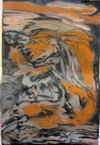 17 Soft pastel on paper. 68x100cm