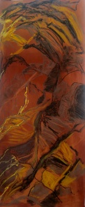 24. Soft pastel on paper. 60x140cm. January 2014
