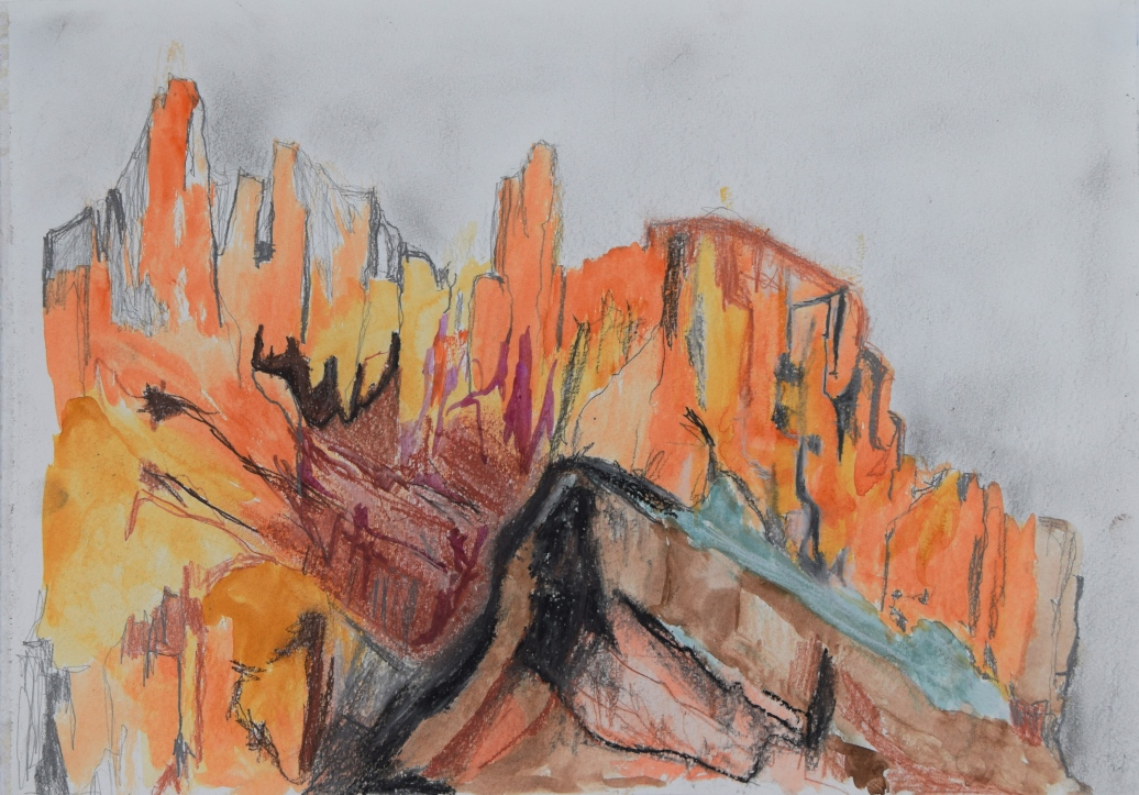 A History of Rocks, 2016. Coloured pencil on paper