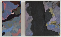 Diptych. Cave Painting No.3. Oil on burlap. 60x100cm