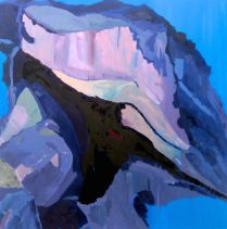 Merlins cave. Oil on board. 200x200cm