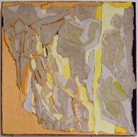 Feature of Landscape 3, oil & pigment on linen, 50x50cm