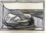 charcoal & chalk on paper. 30x40cm