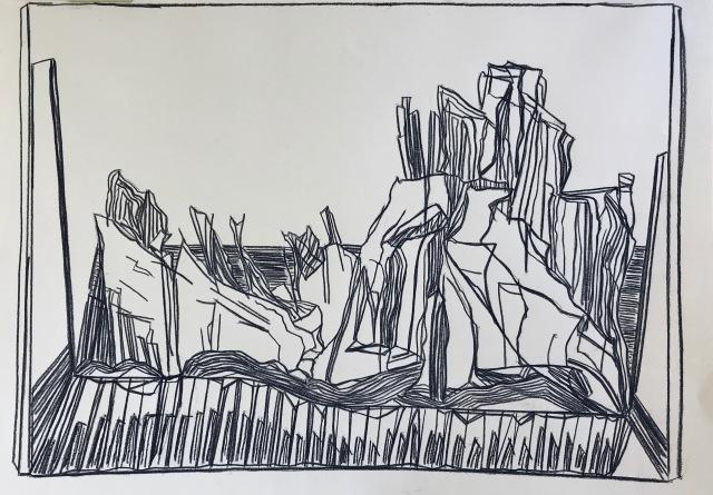 Sound of Landscape I_charcoal on paper_43x59cm_2018