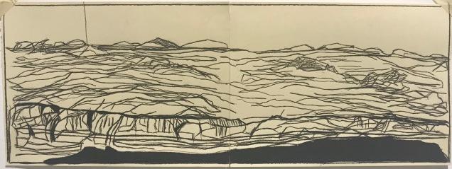 Unconscious Place (study)_charcoal on paper_25x80cm_2019