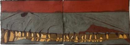 Unconscious Place 1_oil & pigments on paper-30x80cm