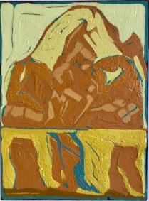 Quiet Earth_oil & pigments on canvas_40x30cm